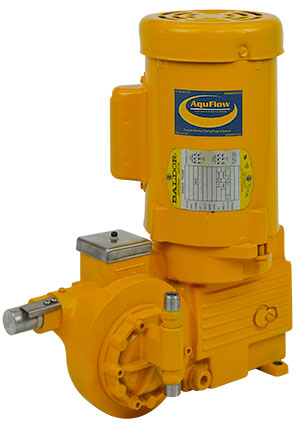 Rugged, compact, hydraulically actuated diaphragm metering pump