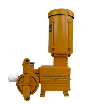 Rugged, compact, series 2000 hydraulically actuated diaphragm metering pump