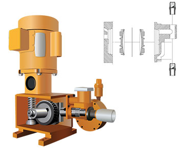 Maintenance-free hydraulic diagram metering pump
