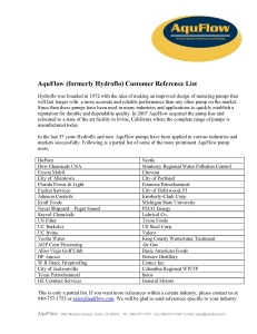 Customer Reference List